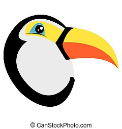 avatar of toucan - Isolated avatar of toucan on a white...