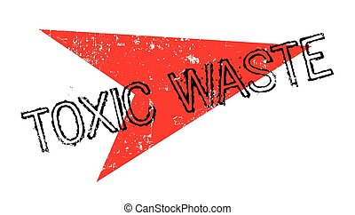 Toxic Waste rubber stamp. Grunge design with dust scratches....