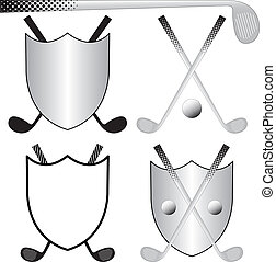 Golfing Logos - Several Golfing Logos with Clubs, Ball and...
