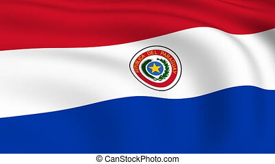 Flying Flag of PARAGUAY | LOOPED |