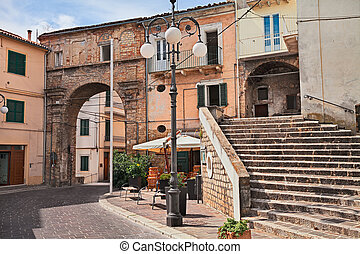 Atessa, Chieti, Abruzzo, Italy: the old city gate Porta di...