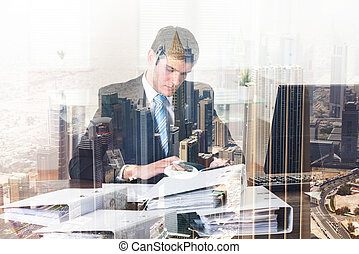 Businessman Doing Accounting