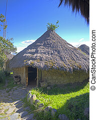 Old indigenous traditional hut