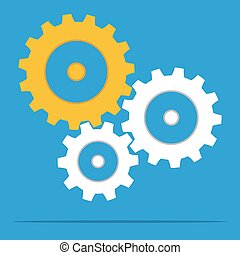 gears for cooperation symbolism - gear wheels for...