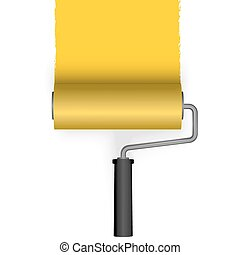 paint roller with marking - paint roller brushs a line from...
