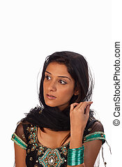Sari - Middle eastern woman wearing a traditional sari