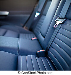 Modern car interior shallow DOF - selective focus; color...