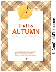 Blank poster on autumn theme background 2 - Blank poster on...