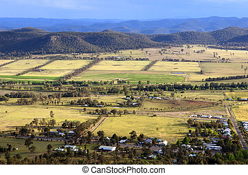 Country Scenic - Beautiful country area with small town and...