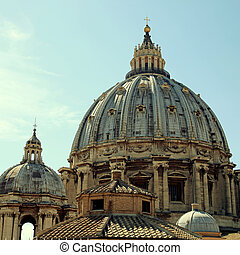 The Dome of St Peter's Basilica, Rome, Italy