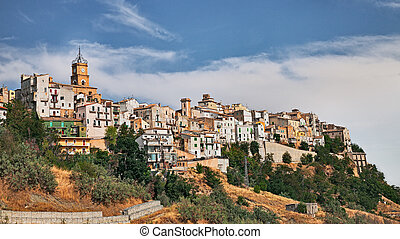 Atessa, Chieti, Abruzzo, Italy: the old town on the hill -...