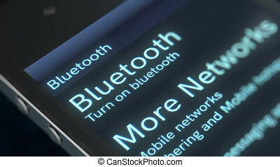 """Finger touches down the Bluetooth icon"" - ""Impressive 3D..."