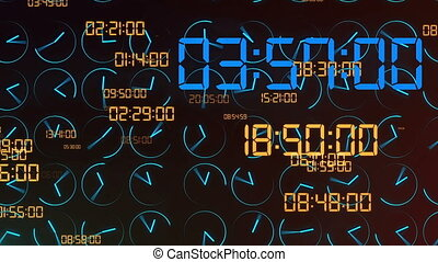 """Futuristic time concept with electronic dial digit"" -..."