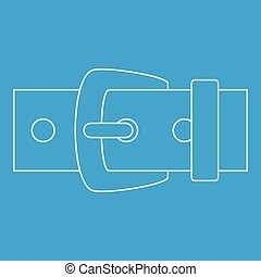 Leather belt icon, outline style - Leather belt icon blue...