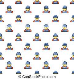 Plumber man face pattern seamless