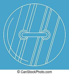 Sewn button icon, outline style - Sewn button icon blue...