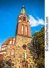 Sopot, Poland - Garrison Church tower, religious...