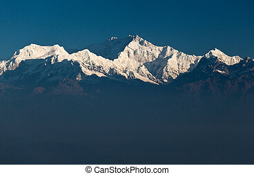 Kangchenjunga from Tiger Hill - Third highest peak in the...