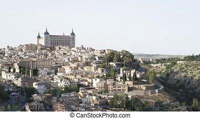 Toledo panorama, Spain - Panoramic view of Toledo. Beautiful...