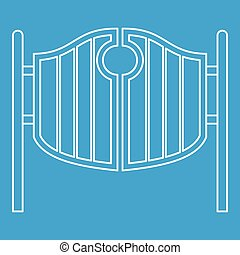 Vintage western swinging saloon doors icon
