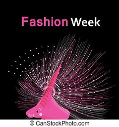 Bright fashion funny poster with a porcupine on a dark...