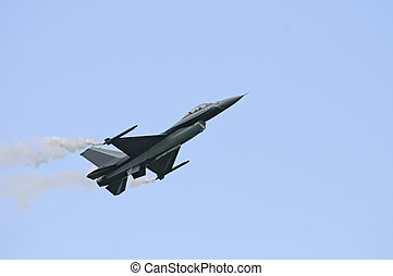 General Dynamics F16 - F16 performing on the Sanicole Air...