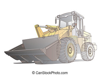 loader_carcass - Detailed vectorial image of pale brown...