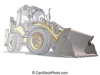 backfiller_carcass - detailed vectorial image of yellow...