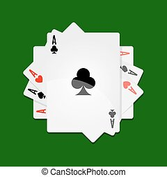 Aces in roll - Vector illustration of aces stacked in roll...
