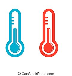 thermometer icon on white background vector illustration