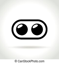 dual camera icon on white background - Illustration of dual...