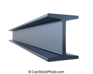 structural steel isolated on a white background