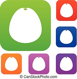 Pomelo set collection - Pomelo set icon in different colors...