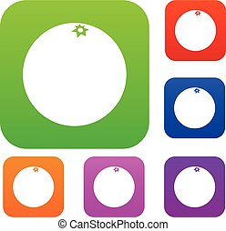 Mandarin set collection - Mandarin set icon in different...