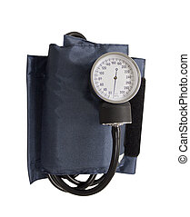blood pressure cuff isolated on a white background