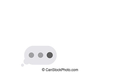 Text typing in messenger, message bubble