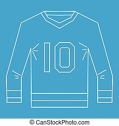 Sports shirt with the number 10 icon outline style - Sports...