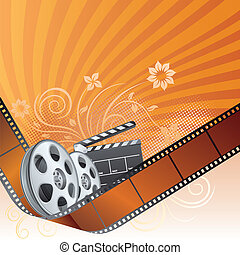 movie theme element - film strip,movie theme element