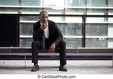 portrait of a young Confident afro american businessman...
