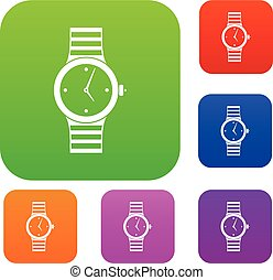 Watch set collection - Watch set icon in different colors...
