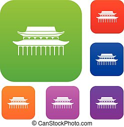 Buddha Toothe Relic Temple in Singapore set collection -...