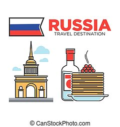 Russian travel symbols