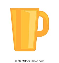 Simple yellow cup - Vector illustration of simple yellow...