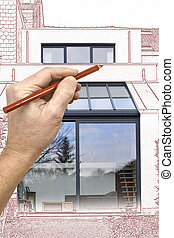 Drawing and planned Renovation of a part from old house
