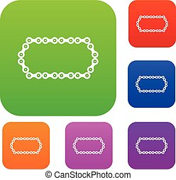 Bicycle chain set collection - Bicycle chain set icon in...
