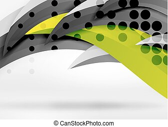 Vector colorful wave lines in white and grey 3d space....