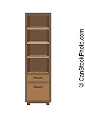 Wooden dark closet - Vector illustration of dark wooden...