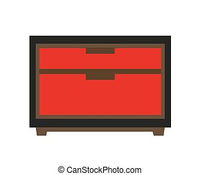Small red chest