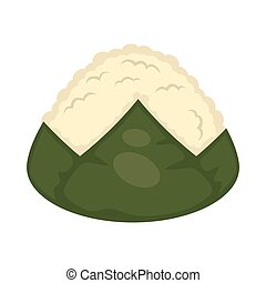 Sushi without topping - Vector illustration of seaweed and...