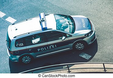 Federal Police Pursuit - Federal Police Cruiser in Austria....